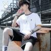 花花公子潮男士韩版休闲运动短裤套装夏季男士流短袖短裤T恤薄款